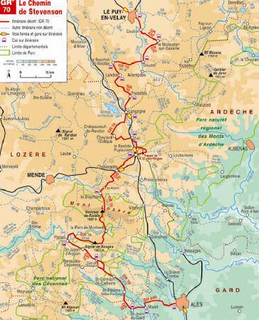 Carte du topo guide de la FFArandonnée