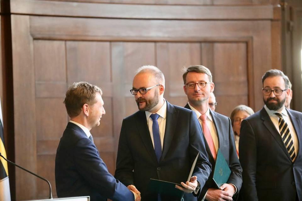 Ernennung zum Sächsischen Kultusminister