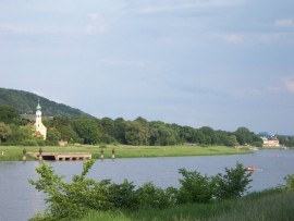 Blick nach Hosterwitz und Pillnitz