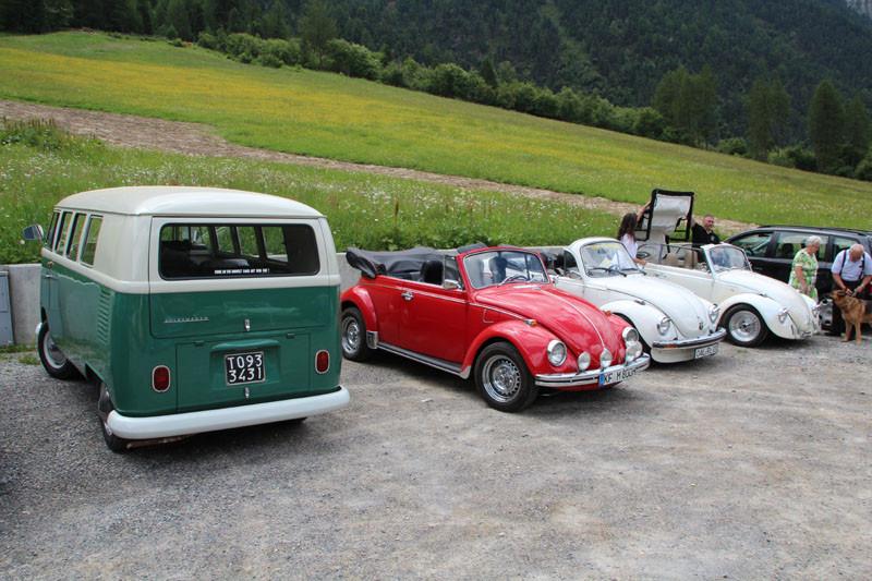 zufälliges Treffen mit dem Käferclub Südtirol