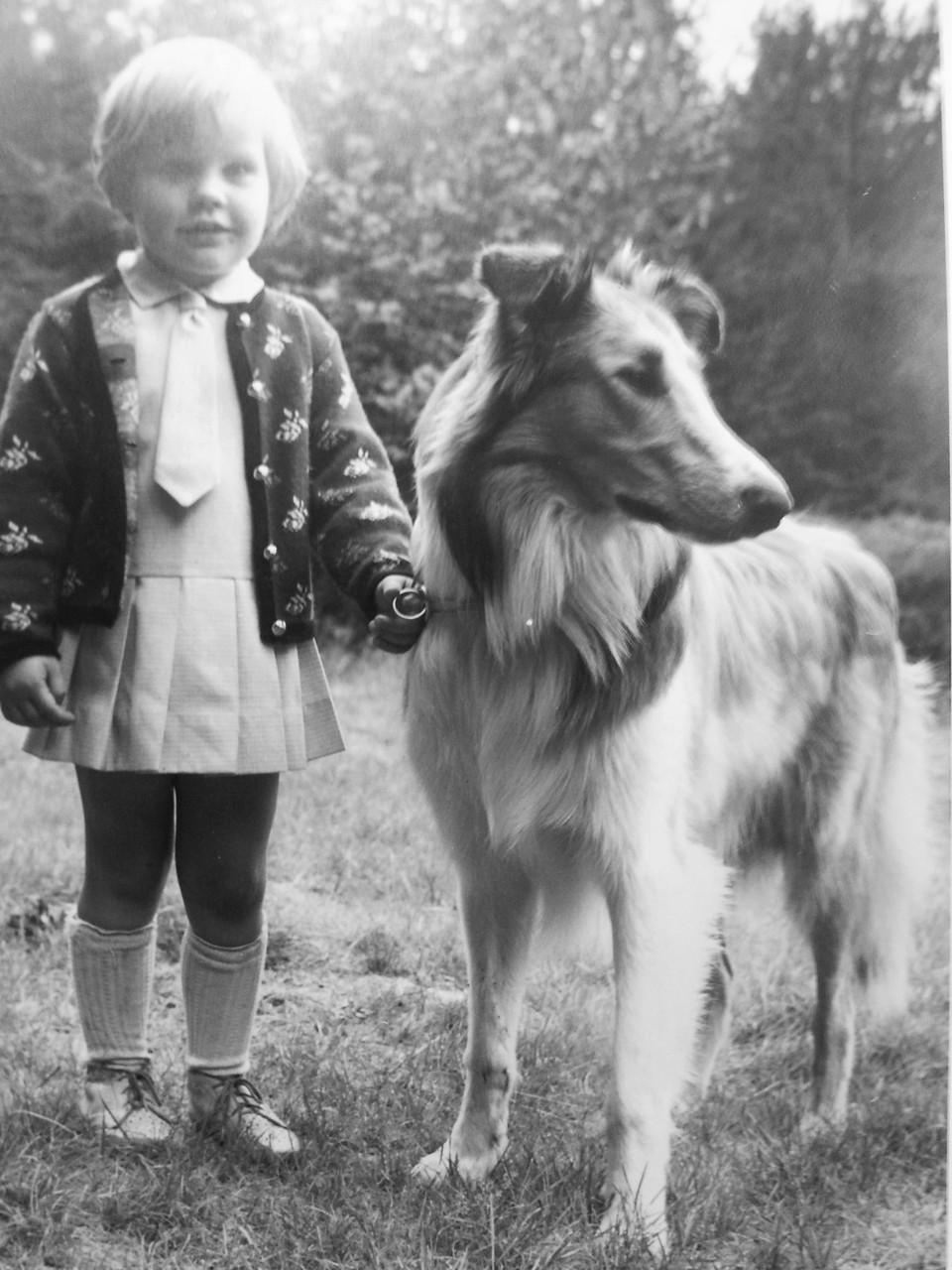 Meine Frau vor vielen,vielen Jahren und ihr erster Collie