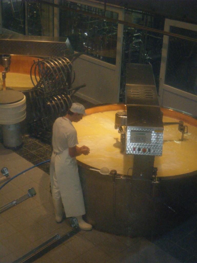 Chauffage et brassage du lait