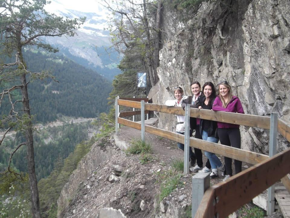 Myriam, Justine, Josianne et moi