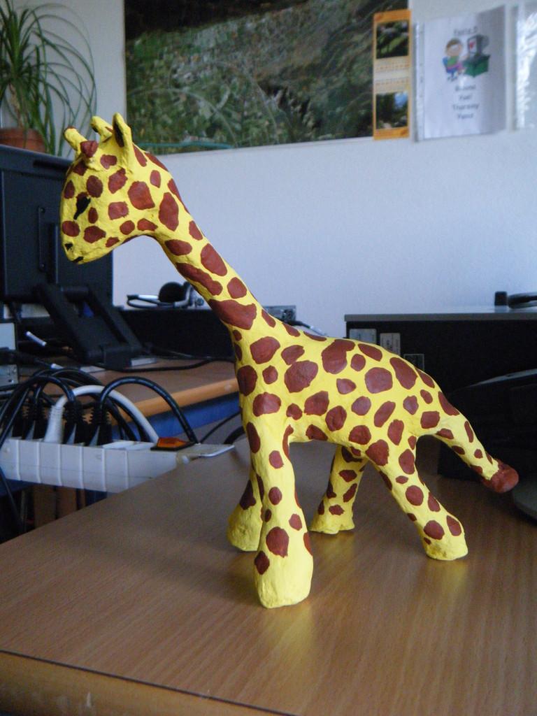 Girafe peinte