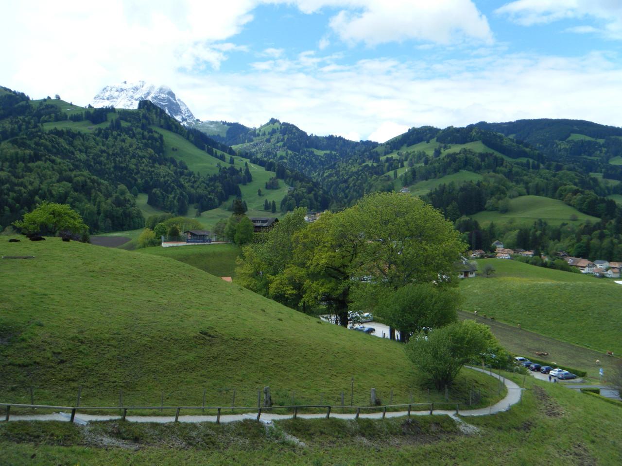 Campagne Suisse, le Moléson à l'arrière-plan