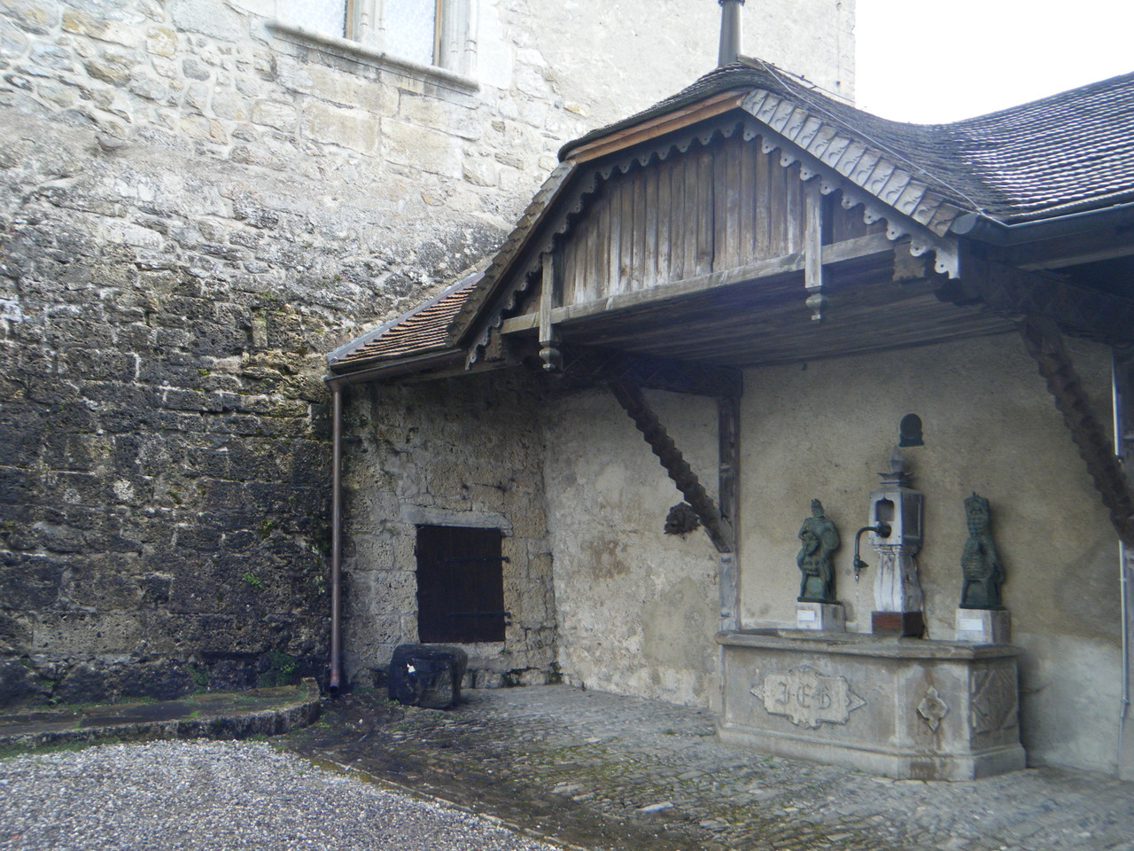 Fontaine au Château de Gruyère