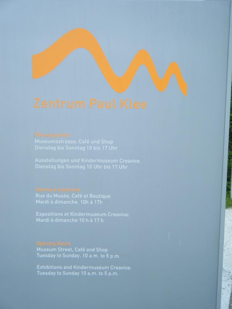 Premier arrêt: le musée Paul Klee