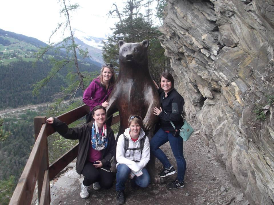 Josianne, Myriam, Bianca et moi