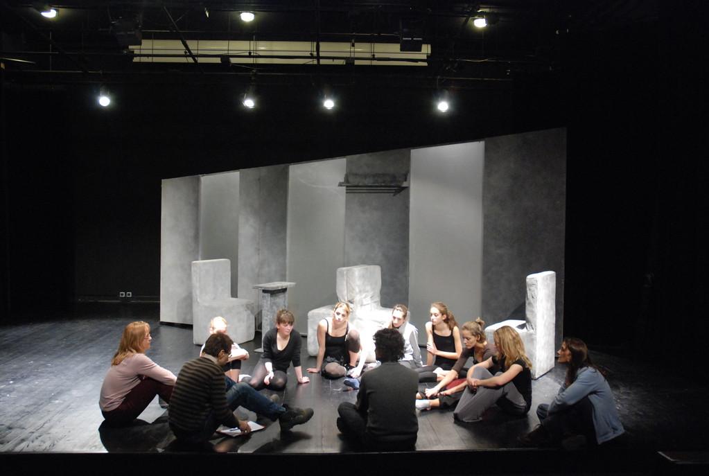 Préparation du spectacle Frère et Soeur avec les élèves des Conservatoires du Val de Bièvre