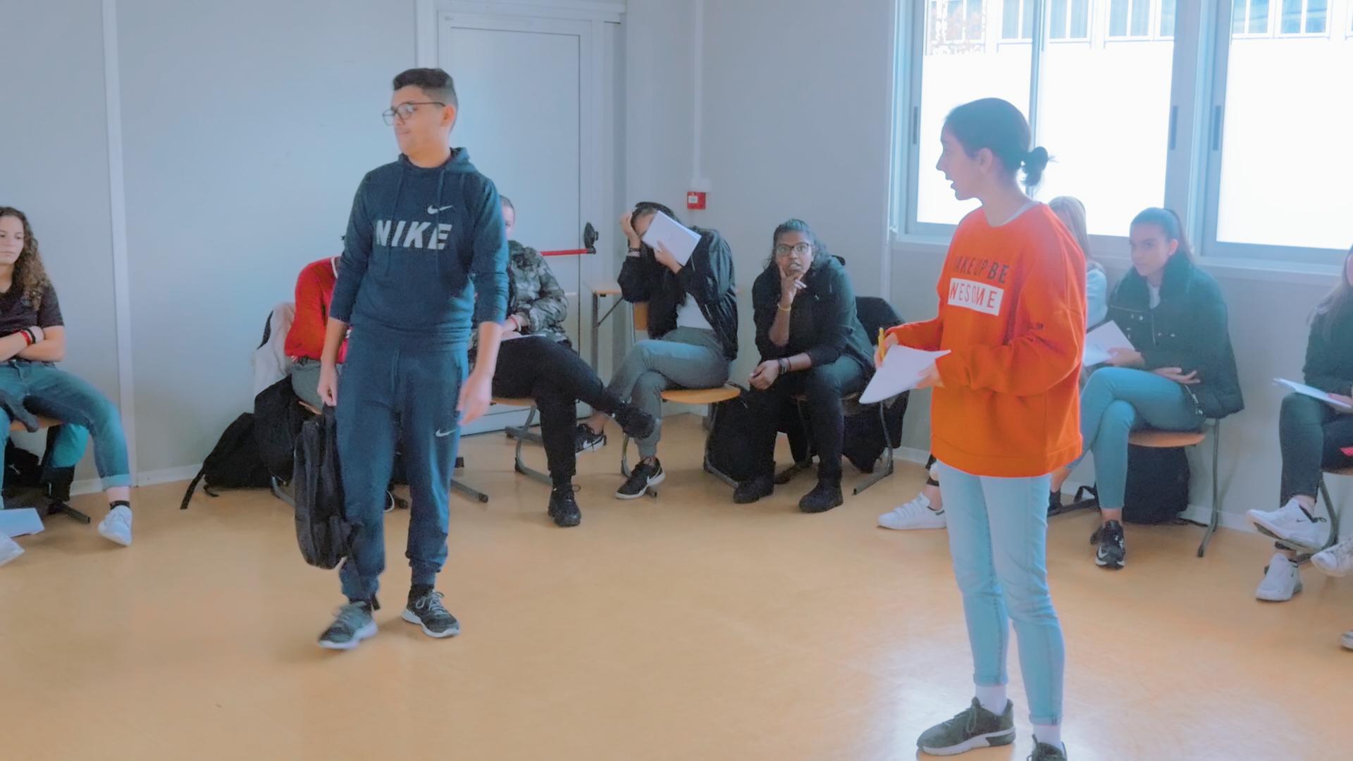 Atelier théâtre en milieu scolaire