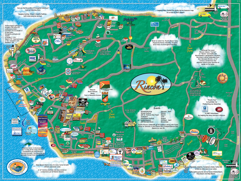 Rincon Maps - The Tourism Association of Rincon, Puerto Rico ...