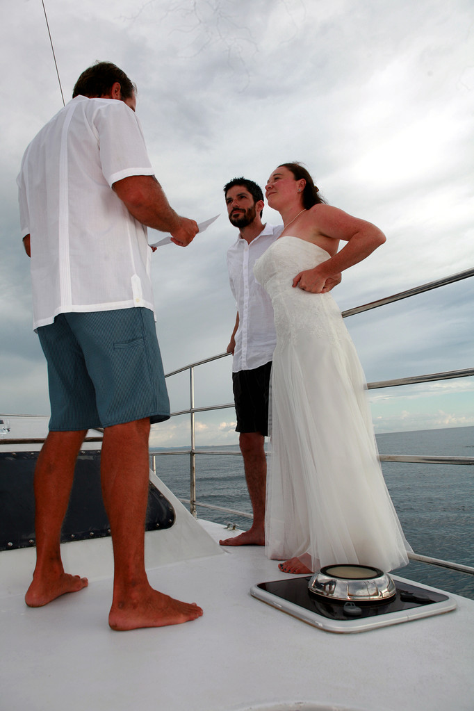 Katarina Sail Charter wedding