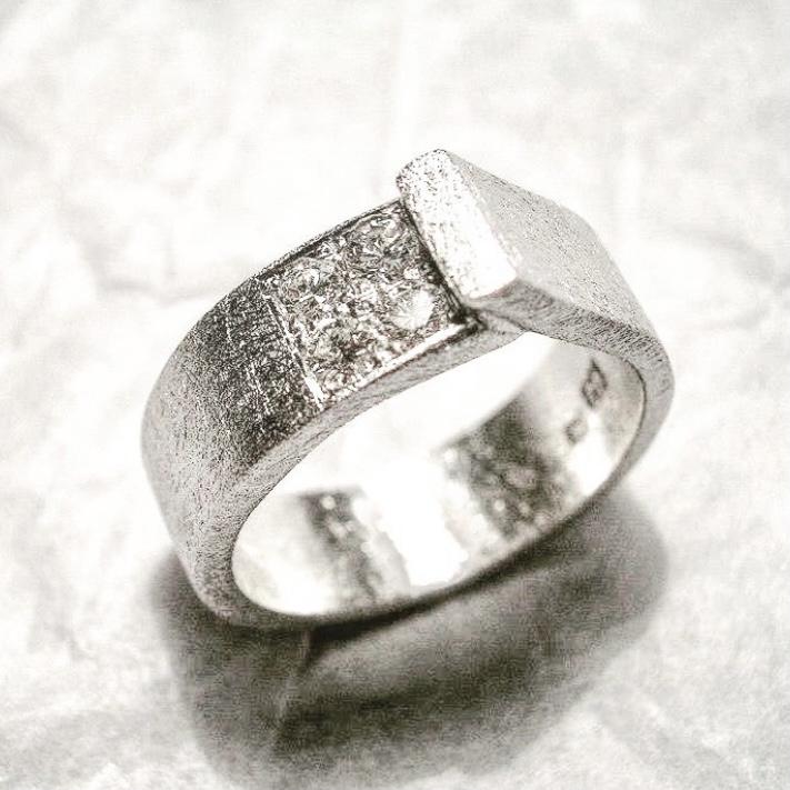 weissgold ring mit diamanten