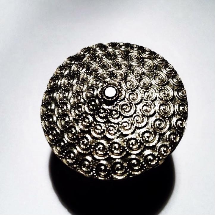 silber ring schwarzer diamant