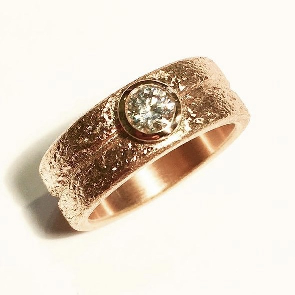 rotgold ring diamant