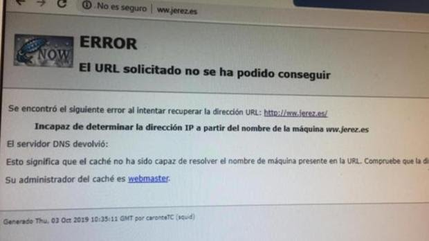 Ciberataque contra el Ayuntamiento de Jerez de la Frontera