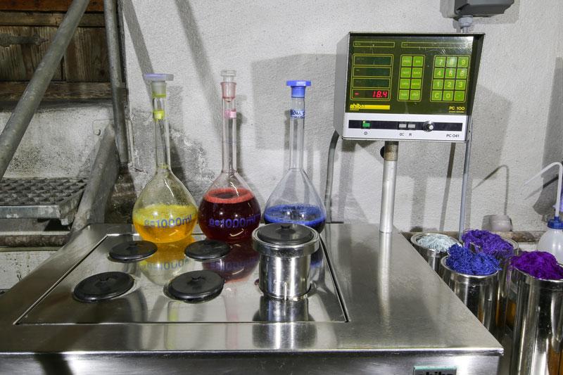 Laborfärbemaschine