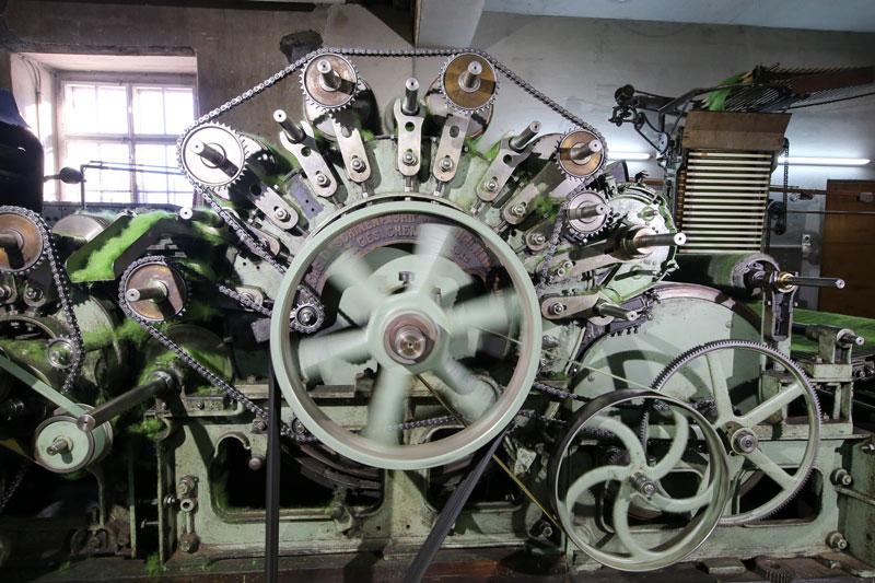 Antrieb Kardiermaschine