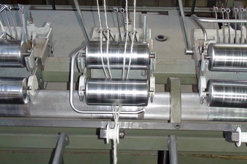 Detail Zwirnmaschine