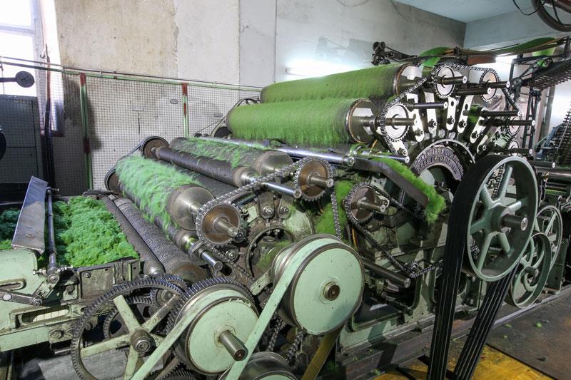 Walzen Kardiermaschine