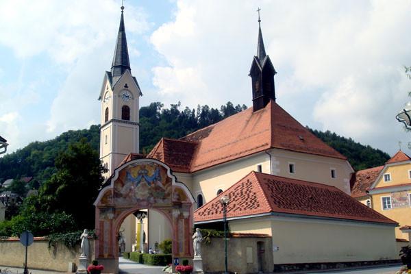 Die Wallfahrtskirche in Maria Lankowitz