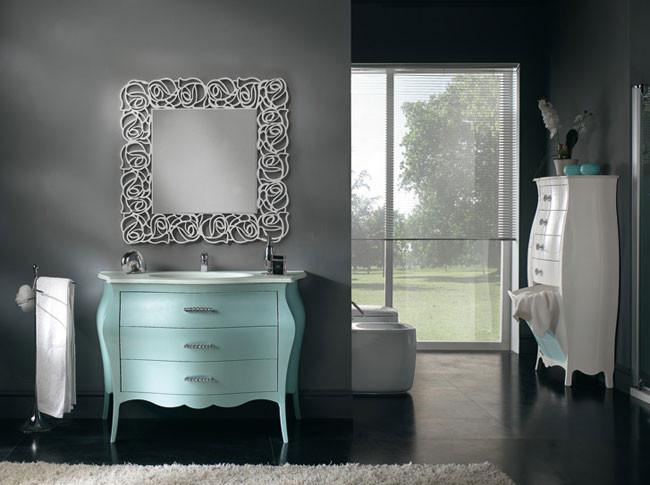 Articolo 51375 - Specchiera quadrata laccata bianca madreperla (LargezzaxAltezza cm.100x100)