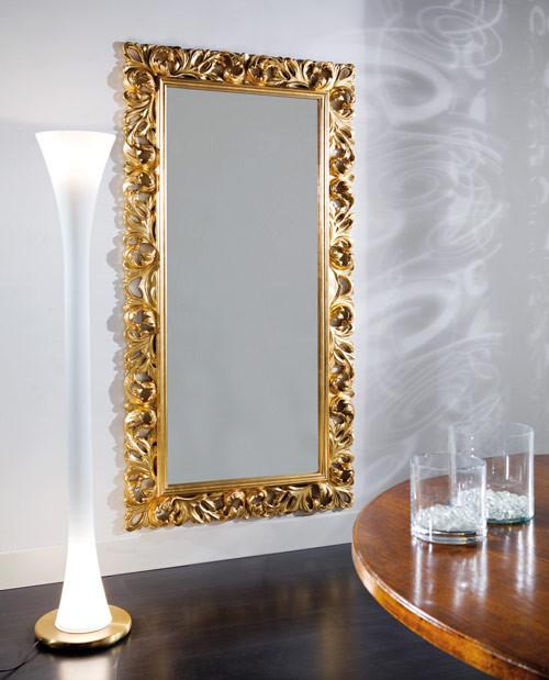 Articolo 52172 - Specchiera intagliata foglia oro (Larghezza cm.107, Altezza cm.207)