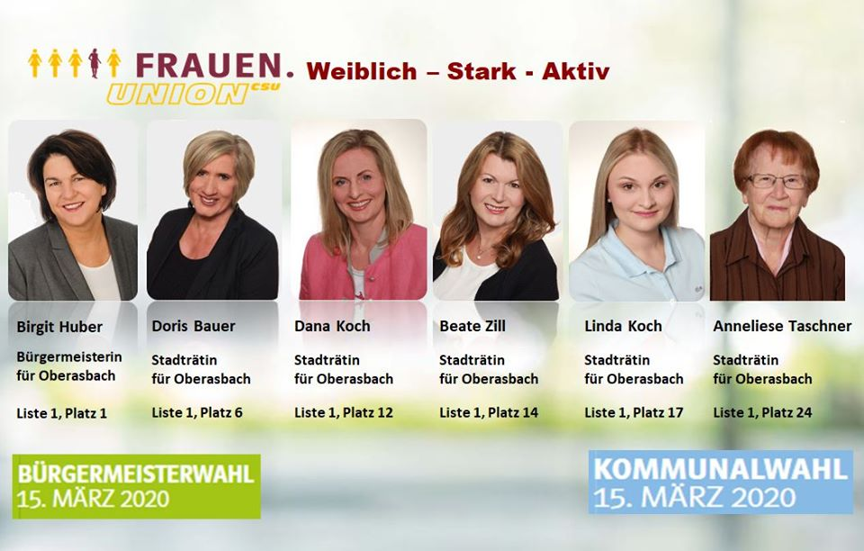 Frauen-Union Oberasbach: Wahlplakat - Frauenpower aus Oberasbach