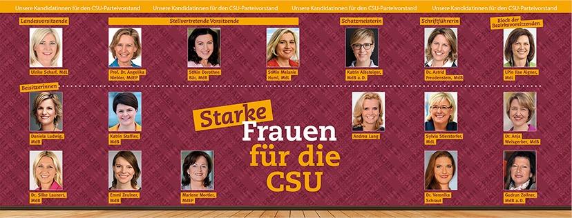 starke Frauen für die CSU - Ulrike Scharf, Prof. Dr. Angelika Niebler und mehr
