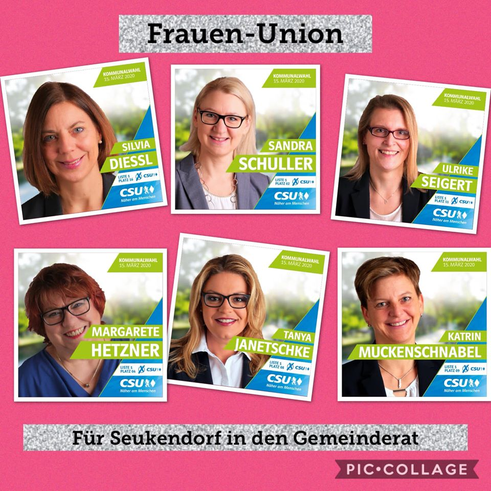 Frauen-Union Seukendorf: Wahlplakat Frauenpower