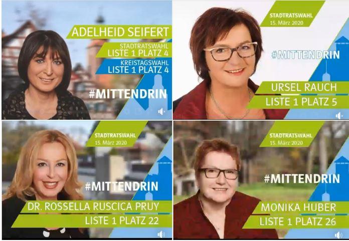 Frauen-Union Zirndorf:  Wahlplakat Frauenpower aus Zirndorf