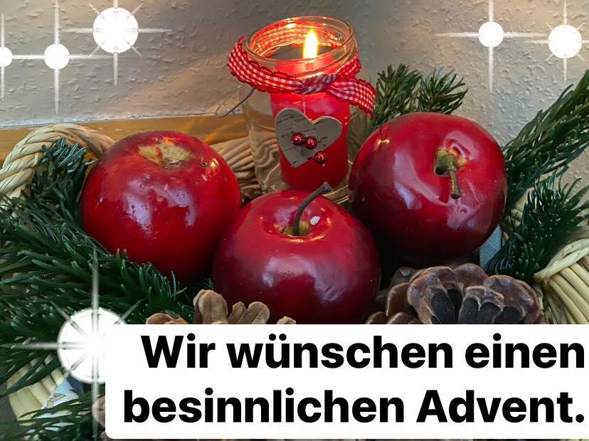 Frauen-Union Kreisverband Fürth-Land: Ein besonderes Strahlen erhellt wieder die Welt -  wenn die weihnachtliche Zeit mit der ersten Kerze Einzug hält. Möge sie Frieden schenken und Wärme in die Herzen lenken.  Wir wünschen einen besinnlichen Advent