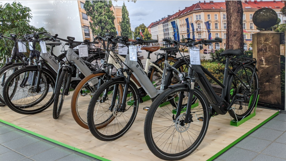 Viele verschiedene Giant e-Bike Modelle in der e-motion e-Bike Welt Westhausen