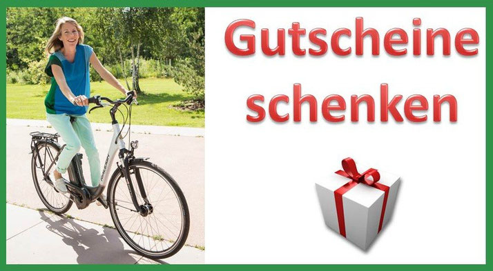 Verschenken Sie zu Weihnachten einen e-Bike Gutschein