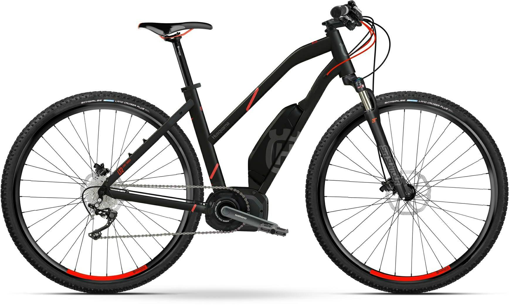 Husqvarna Cross Tourer CT2 e-Mountainbike, MTB Pedelec 2018 schwarz/rot Trapezrahmen