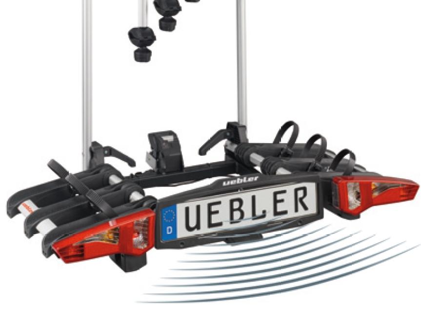 Uebler Fahrradheckträger DC i31 für 3 e-Bikes mit integrierter Einparkhilfe