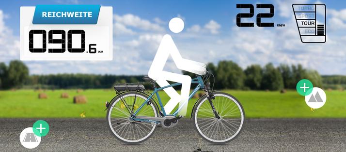 e-Bike Akku Reichweite