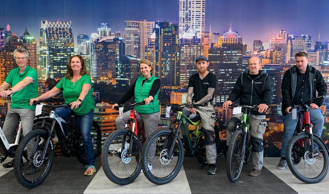 Elektrofahrräder mit 25 km/h oder 45 km/h Unterstützung kaufen und Probefahren in Erding