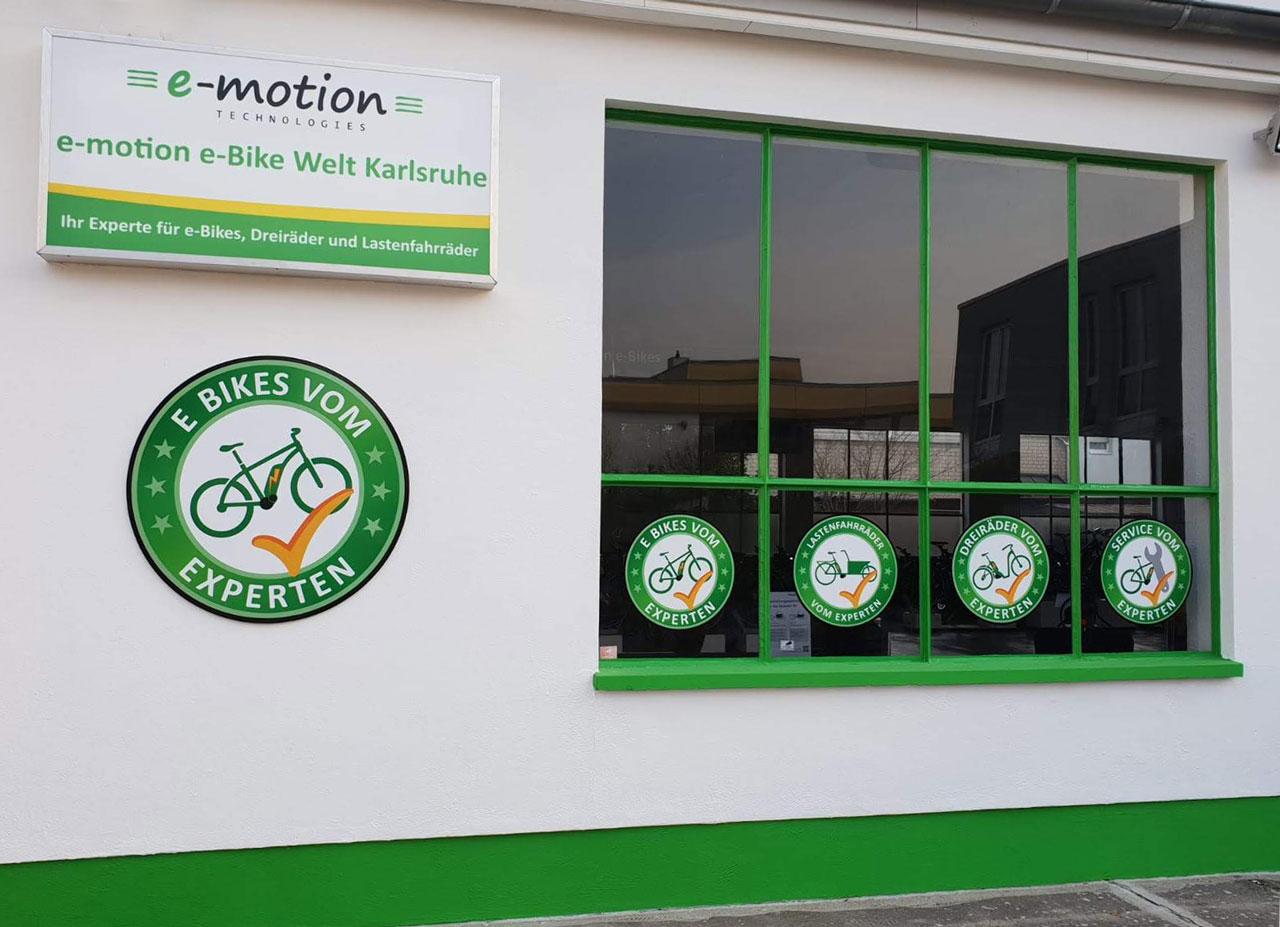 e-Bikes vom Experten in der e-motion e-Bike Welt Karlsruhe
