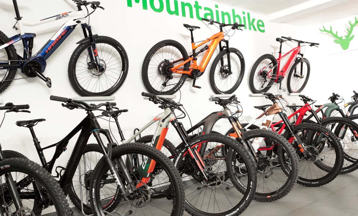 Große Auswahl an Premium e-Mountainbikes in der e-motion e-Bike Welt in München Süd