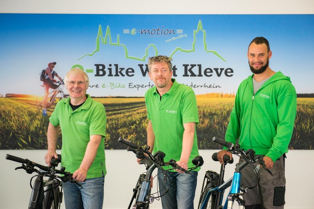 Die e-Bike Experten der e-motion e-Bike Welt Kleve
