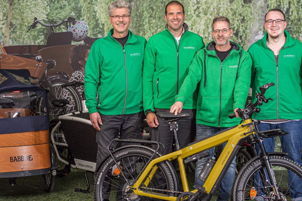 Babboe e-Bikes in der e-motion e-Bike Welt Moers