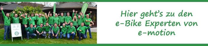 Die e-motion e-Bike Experten in der e-motion e-Bike Welt in Ahrensburg