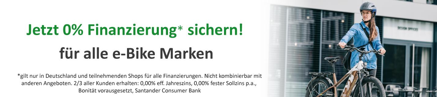 0%-Finanzierung für e-Bikes, Pedelecs und Elektrofahrräder bei den e-motion e-Bike Experten in Ulm