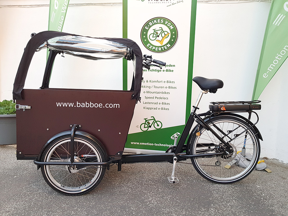 Babboe Lasten e-Bike Dog-E in der e-motion e-Bike Welt Saarbrücken