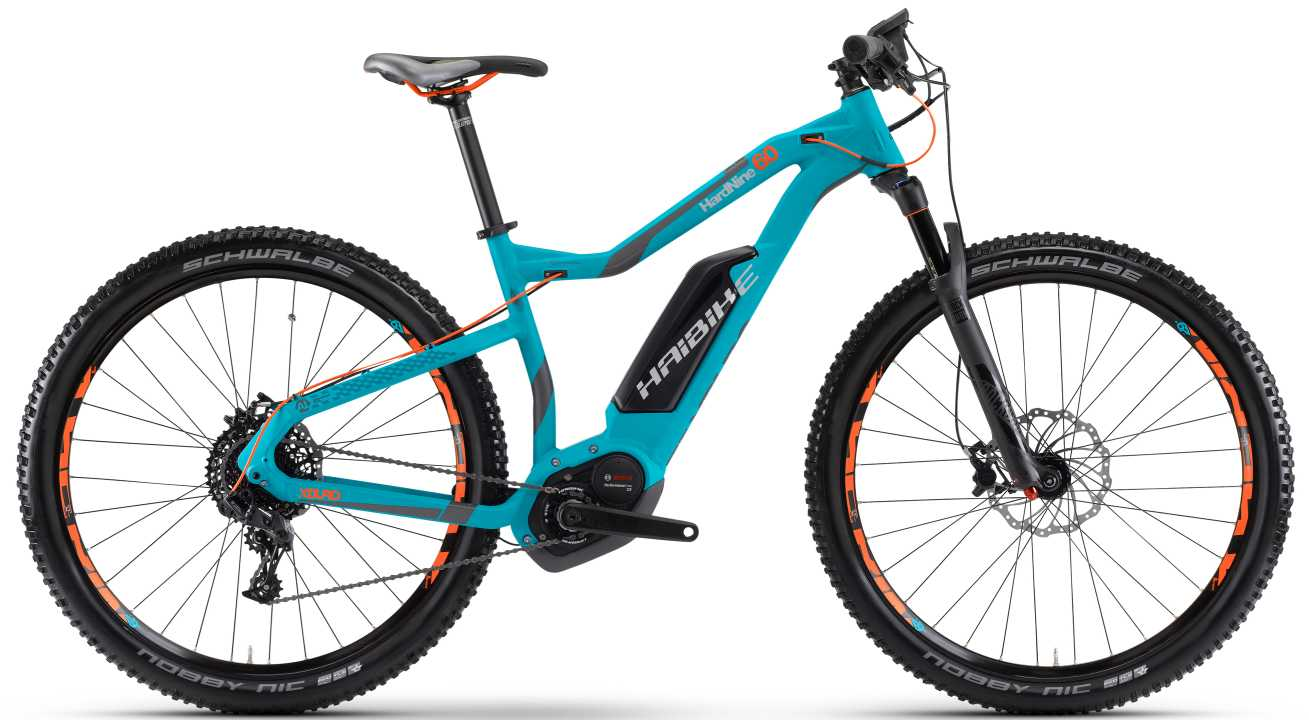 Haibike XDURO HardNine 6.0 cyan/anthrazit/orange