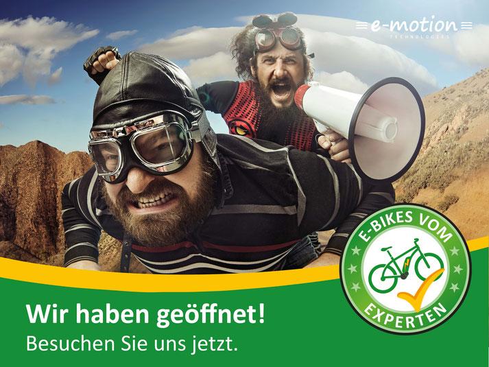 Kostenlose Beratung, Probefahrt und Vergleich von Trekking e-Bikes in der e-motion e-Bike Welt in Erding