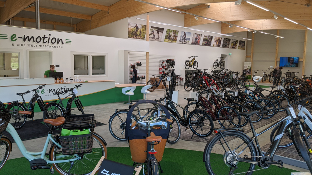 Die e-motion e-Bike Welt Westhausen