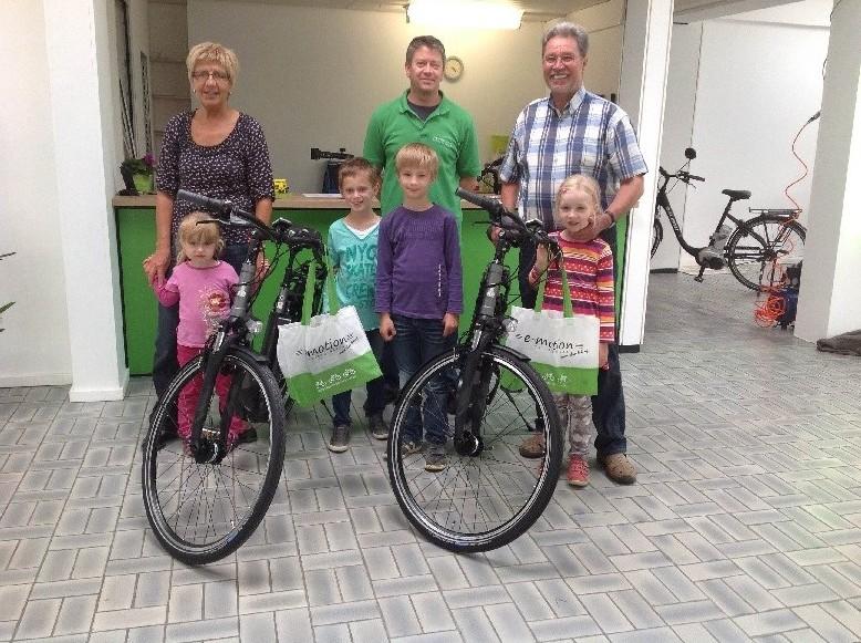 e-Bikes für Eltern, Kinder und Senioren