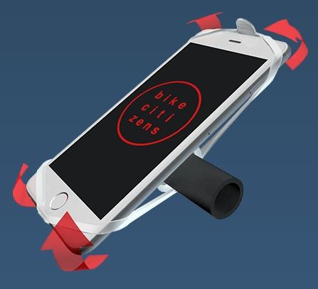 Schritt 3: Laschen spreizen und von hinten auf die Ecken deines Smartphones spannen.